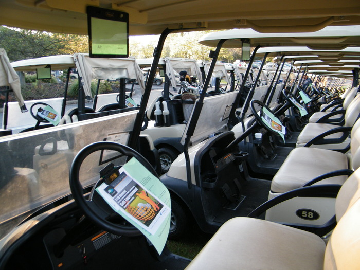 Golf Carts At Tournament