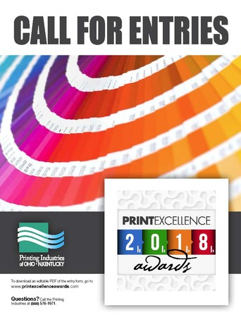 2018 Print Excellence Awards Call For Entries Cover